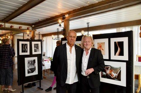 Kurs:Ralph Gibson (tv) og Morten Krogvold har halde fotokurs i Vågå denne veka.   Foto: Solrun S. Snilsberg