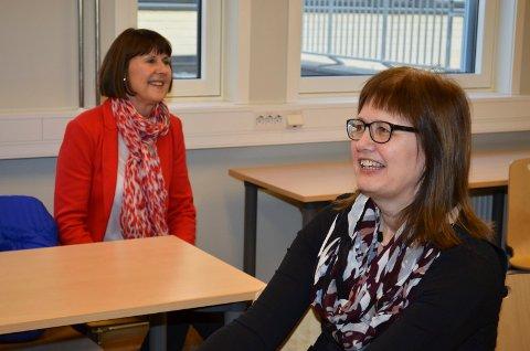 STYRELEDER: Tidligere Høgskolen i Hedmark-rektor Lise Iversen Kulbrandstad er styreleder i NOKUT. Her sammen med Anna L. Ottosen (til venstre), viserektor i Høgskolen i Innlandet .