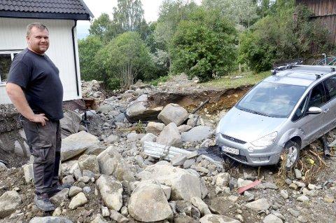 Slik så det ut hos Espen Granli etter flommen i Balbergskaret sommeren 2014 ( GD arkiv).