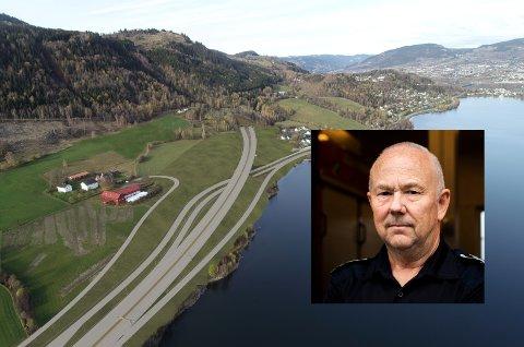 Brannsjef Knut Birger Bakken i Lillehammer region brannvesen mener Nye Veiers tekniske løsning for slokkevann i «Vingnestunnelen»  ikke er tilfredstillende.