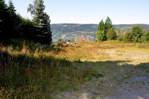 På denne sentrale tomta sør i Lillehammer vil Tronrud Eiendom bygge rekkehus og leilighetsblokk.