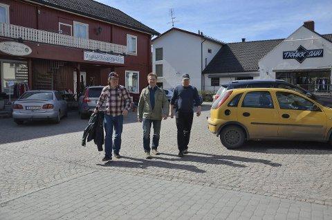 INVITERER TIL MUSIKKFEST: Morten Wien (f.v.), Øistein Lysenstøen og Kenneth Motland i Rebels Music.