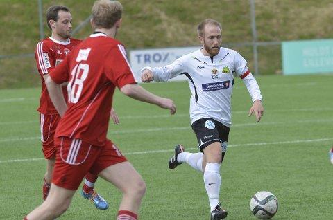 TO MÅL: Håvard Skjørshammer Olsen satte inn de to første målene da Gran vant den viktige bortekampen mot Vind fredag kveld.