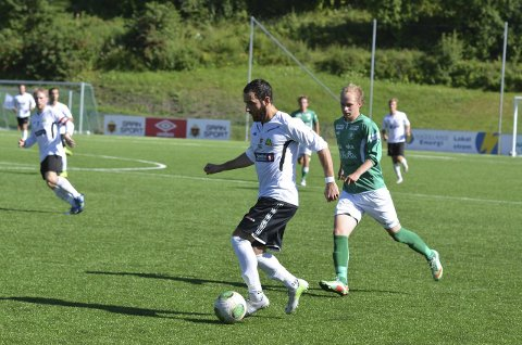 TRE MÅL: Nader Khalayli ble dagens mann for Gran med tre scoringer mot Vind. Arkivfoto: Arvid Holmlund