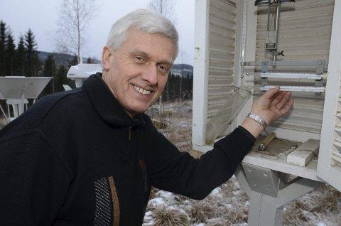 Mildt år: Spesielt milde vintermåneder gjorde at 2015 ble et varmt år hos Dag Anmarkrud på Skjervum i Gran. Arkivfoto