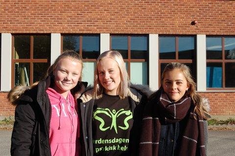Fra venstre: Anette Woldengen (9.trinn), Henriette Grime Sigvartsen (10.trinn) og Elisabeth Grøndahl Tangen (8.trinn).