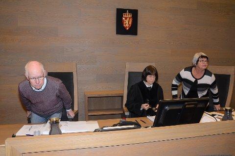 Dommere: Tingrettsdommer Helle Rolstad flankert av meddommerne Arne Haugestøl fra Gran og Åse Nystuen Pettersen fra Skreia.
