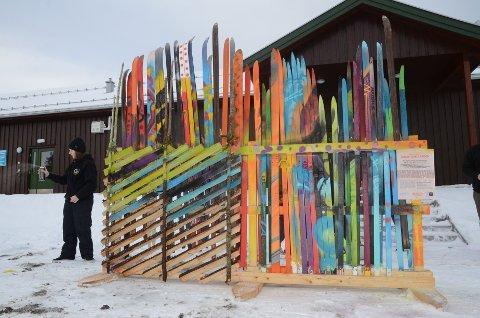 Snart ferdig: Graffitiskigarden er ikke ferdig ennå på dette bildet, men det begynner å nærme seg. Foto: Bjørn Bjørkli