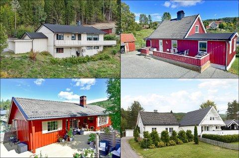 SOLGT: Dette er noen av husene på Hadeland som skiftet hender i november.