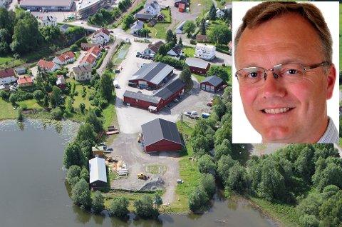 Sparer adjektivene: Morten Hagen (GBL) følger opp gigantsprekken med en rekke spørsmål. Bildet av Sagatangen er tatt i juni 2017.