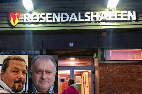 NYTT NAVN? Rune Meier og Roger Nyhus foreslår navnebytte på Gran idre... Rosendalshallen.