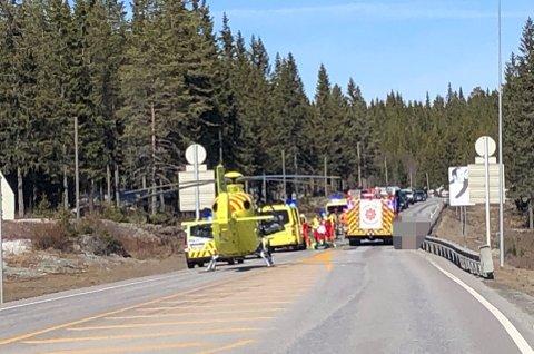 OMKOM: En 70 år gammel kvinne omkom i en uykke på Lygna skjærtorsdag.