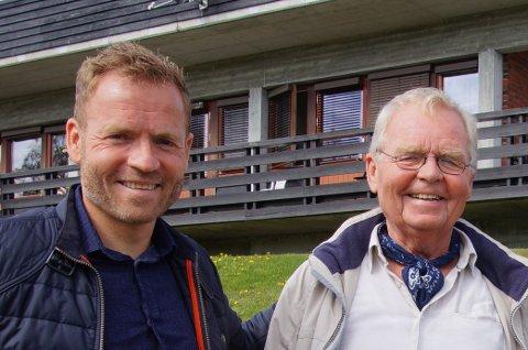 GODT ÅR: Åge Mikael Strand og Åge Strand jr hadde et av sine beste år med Acanthus utvikling i fjor.