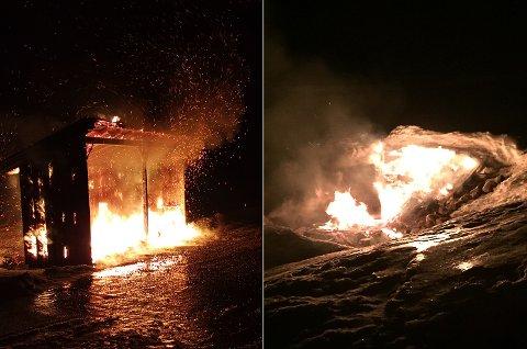 PÅTENT: To av brannene tidlig på nyåret ble fotografert.