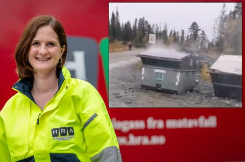Advarer: Åse Toril Krågsrud i HRA advarer folk mot å kaste hva som helst i containere.