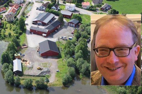 KLAR TALE: Konstituert rådmann Leif Arne Vesteraas oppfordrer politikerne om å si ja til bygging på Sagatangen.
