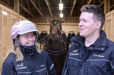 Kristine Kvasnes og Lars Raaum er blitt et helt spesielt travpar.