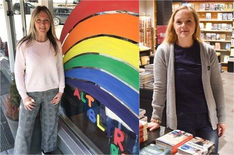 Pusle-hype: Bokhandlerne på Hadeland opplever enorm pågang av puslende voksne. Anita Nordvik i Brandbu og Simone Stadum i Gran sentrum.