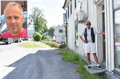 Har kjøpt: Lars Magnus Braaum har kjøpt det gamle butikk-lokalet ved riksveg 4 i Volla av Lars Kaasa.