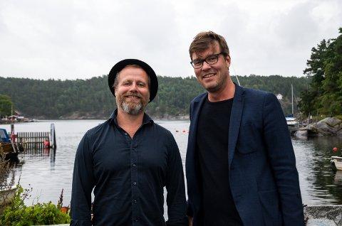 Frank Skovran(f.v.) og Espen Holtan underholdt publikum på Sponvika Vertshus som en del av de 12 timene til inntekt for H2H.