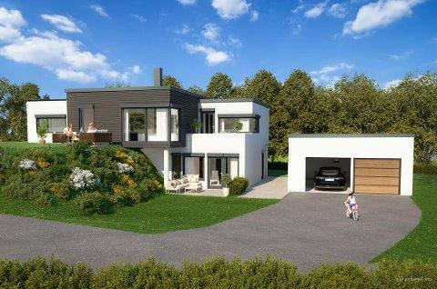 LEIEINNTEKTER: Dette huset kommer med ekstra leilighet, slik at kjøperne kan bruke leieinntekter til å spe på boliglånet.