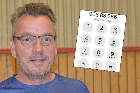 TELEFON:  Håkon Meidel Andersen selger sitt telefonnummer for 888.886 kroner.