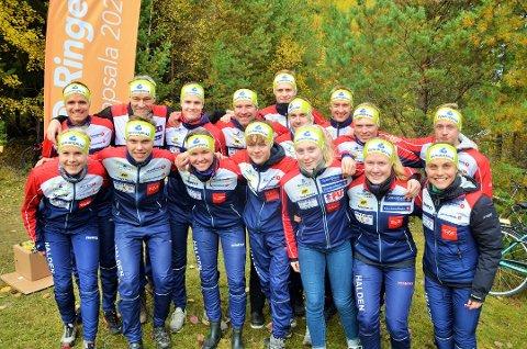 INGEN STAFETTER: Halden Skiklubb, her fra fjorårets 25 manna i Sverige, må klare seg uten de store stafettene i år. Men Halden-løperne får mest sannsynlig muligheten til å kjempe om NM-medaljer.