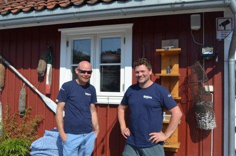 Håvard Olsen Ingerø og Christer Bjørnstad er stor fornøyde med hvordan det har gått etter åpningen.