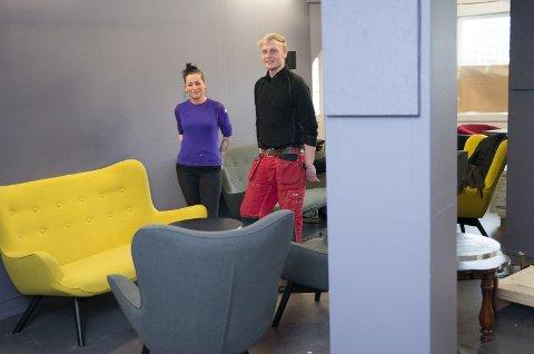 SNART OPPSTART: Hanne Madeleine Skavern og Roar Øverli åpner dørene til Distrikt 23 Café & Bar onsdag.