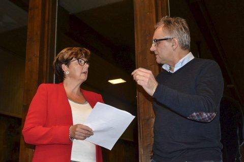 Kompromissa: Ordførar Solfrid Borge trekte sitt framlegg til fordel for fellesframlegget frå Ap,SV, V og H som Trond Instebø ar fram.