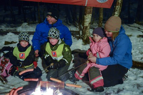 ARKIVFOTO: Barnas turlag, kveldsmattur i Eidesåsen