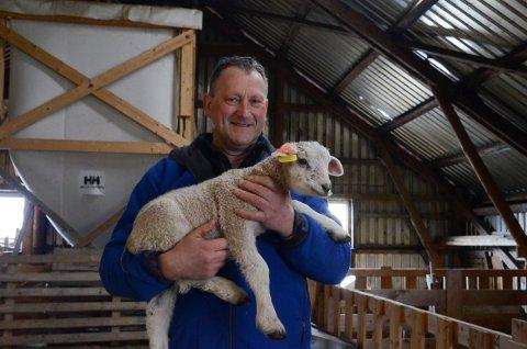 Vidar Reisæter med lam