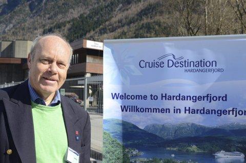 Cruise: Utifrå førehandsbestillingane ventar ein i Hardangerfjorden totalt 105 anløp  i 2021.