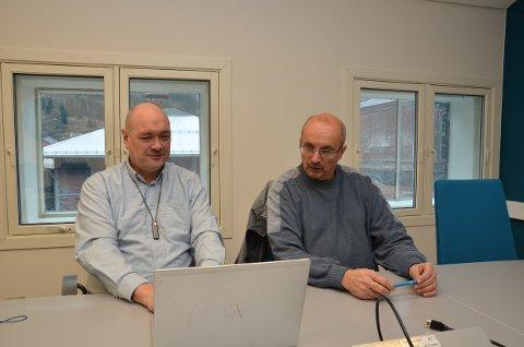 Odda Parkering AS: Dagleg leiar Kjetil Skjeie (t.v.) og styreleiar Eivind Tokheim. Arkivfoto