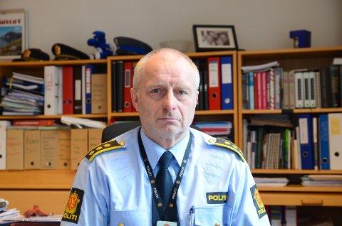 Politi: Lensmann Terje Kvalvik seier dei ønsker seg fleire tilsette ved Hardanger lensmannskontor på sikt.arkivfoto: KRistin Eide
