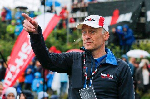 SNART I MÅL: Ironman-sjef Ivar Jacobsen teller ned til søndag. Da går nemlig startskuddet for den lokale jernprøven.
