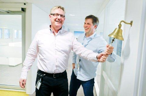 Deep Ocean med ny kontrakt. Kommersiell direktør Rolf Ivar Sørdal og chief strategy officer Mads Bårdsen.