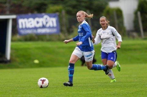 BAUTA: Christina Ambjørndalen har vært en viktig spiller for  Haugar i mange sesonger. Søndag i neste uke - på hennes egen 25-årsdag - får hun vist seg fram på Presselaget.