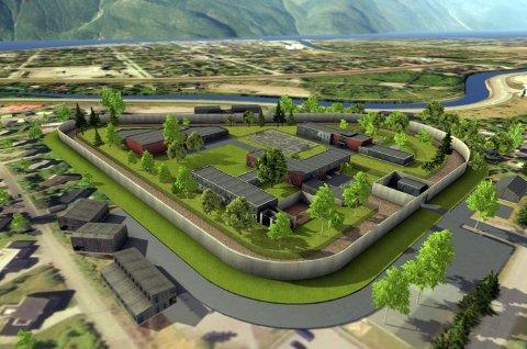 Stort: Et nytt fengsel på Skjervengan kan by på inntil 63 soninsplasser og kanskje 50-60 ansatte.