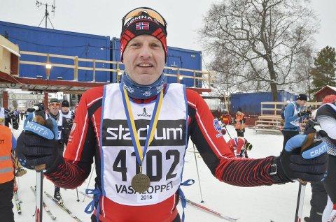 Hard oppladning: Werner Reinfjord fra Sømna varmet opp til Birken med Vasaloppet for 14 dager siden.
