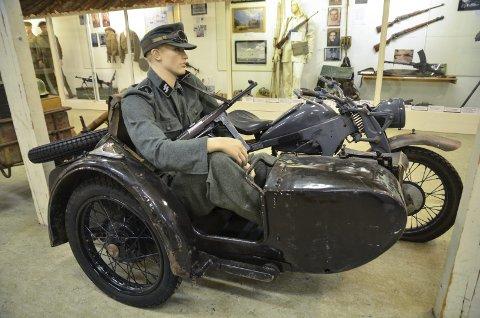 Krigsmuseet: Tysk motorsykkel av typen Zundap 650. Det fantes tusenvis av disse syklene i Norge under krigen. Tyskerne brukte dem både til transport og ordonnans-tjeneste.  Bilder: Toril Risholm