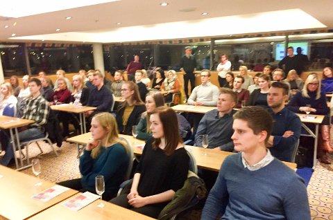 60: 60 studenter deltok i møtet i Trondheim 6. februar. Foto: Laila Andersen Olderskog