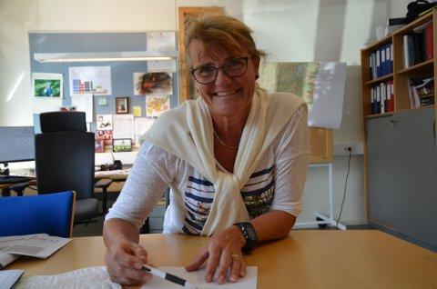 LEDER: Helle Torill Sandvik  kan legge blodferske tall på bordet