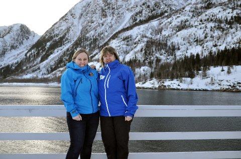 VINTERIDYLL: Guro Larsen Brown (t.v.) og Gunn Johansen fra Helgeland Reiseliv varsler en real satsing på vinterturisme på Helgeland.