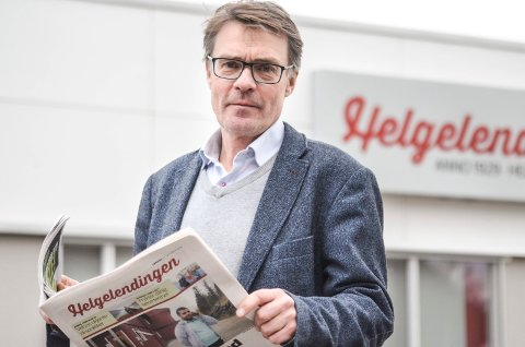 Geir Arne Glad opplyser at papiravisen er forsinket på grunn av uværet.