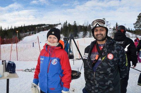 Pia Olsen, Rana slalåmklubb, og Dan-Roger Sandstrak, Mosjøen slålåmklubb, står i bresjen for et alpinsamarbeid over kommunegrensene. Foto: Trond Isaksen