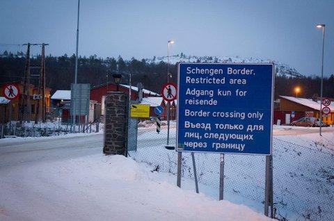 NEDGANG: Grensestasjonen ved Storskog blir stadig mindre besøkt.