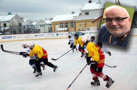 VIL HA FLERE LAG: Ernst Falch fra Stavanger er på jakt etter flere hockeyspillere fra Finnmark.