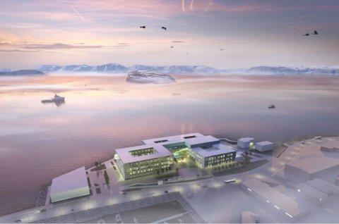 SKISSE: Slik er det tenkt at nye Hammerfest sykehus skal se ut.