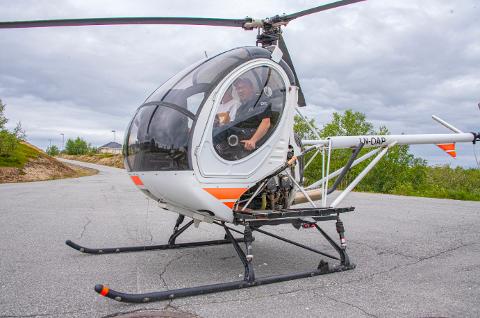 SATSER: Her er helikopteret avbildet i Kautokeino. Foto: Håkon Nilsen/Kronstadposten